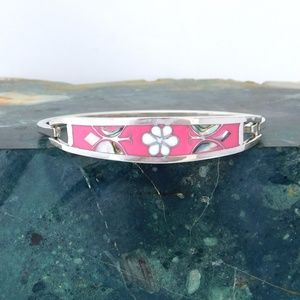 Taxco Mexican Bracelet Alpaca Silver Abalone i28